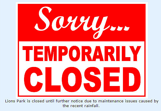 Lions park temporarily closed after wastewater overflow - City of Temple Website