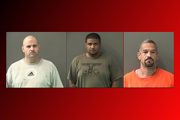 James David Butler (left), Ty Termaine Rice (middle), and Paolo Tescari (right) - Bell County Jail Photos