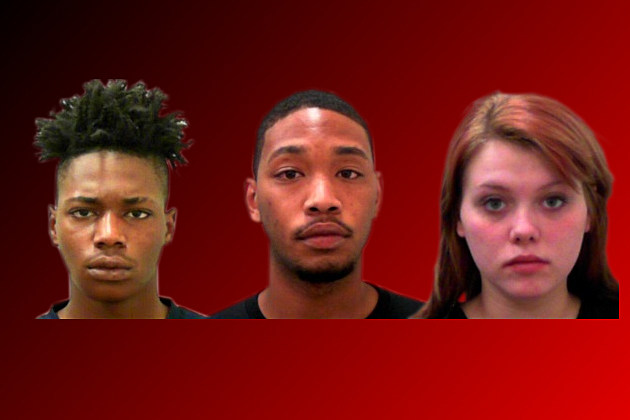James Tyshawn Pinkard, left, James Tyshawn Pinkard, center, Erica Lane Brownlee, right - Photos Courtesy of Killeen Police