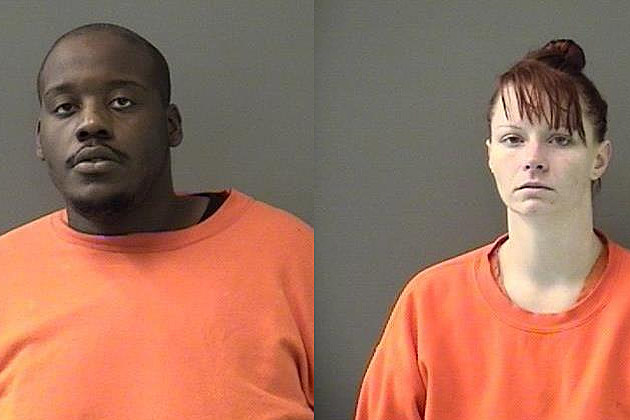 Quinton Maurice Barnes, left, and Tarah Ann Nichols, right - Bell County Jail Photos