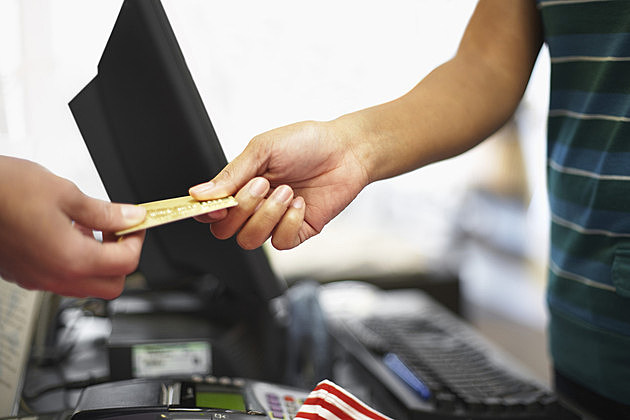 Woman Making a Credit Card Purchase