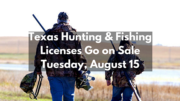Texas hunting fishing licenses go on sale tuesday for Where to buy texas fishing license