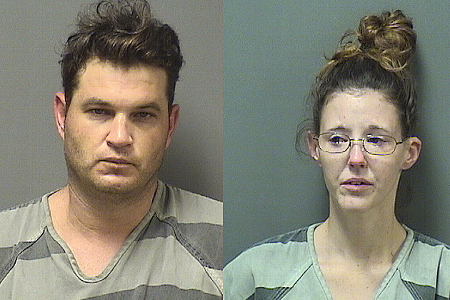 Billy Tate Shoaf, left, and Ashley Nicole Mitchell, right - Coryell County Jail Photos